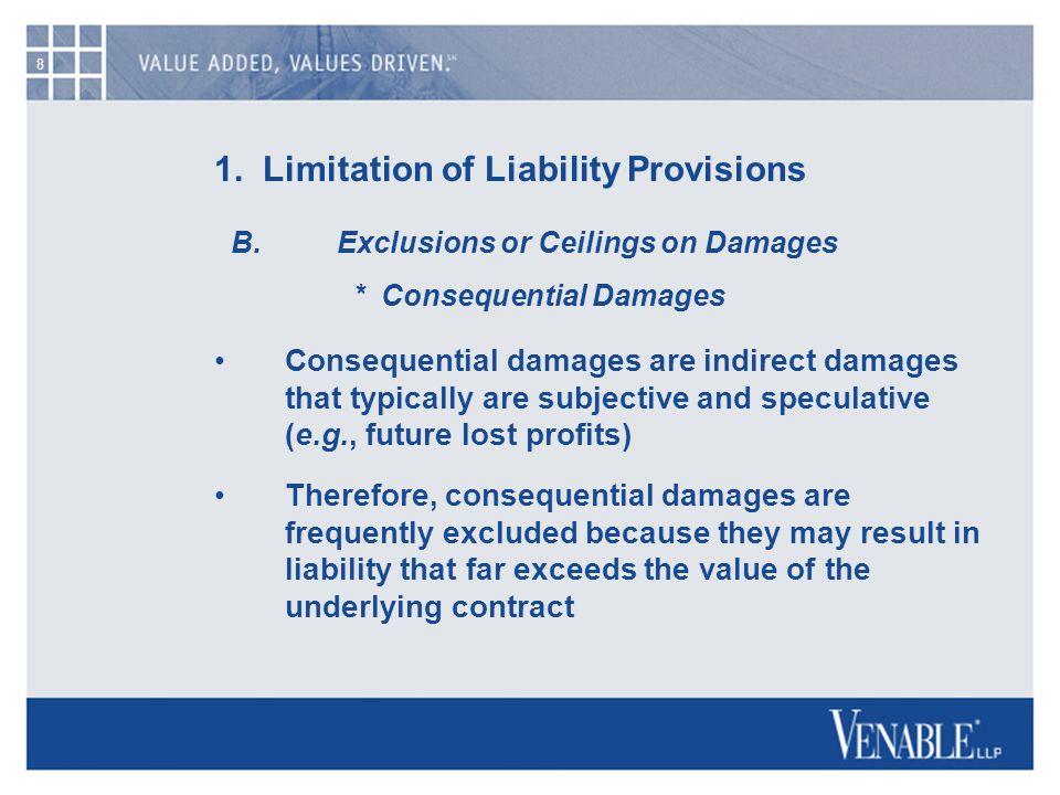 8 1. Limitation of Liability Provisions B.