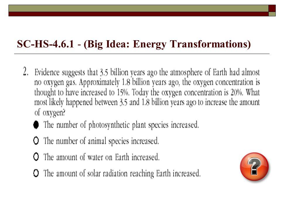 SC-HS-4.6.1 - (Big Idea: Energy Transformations)