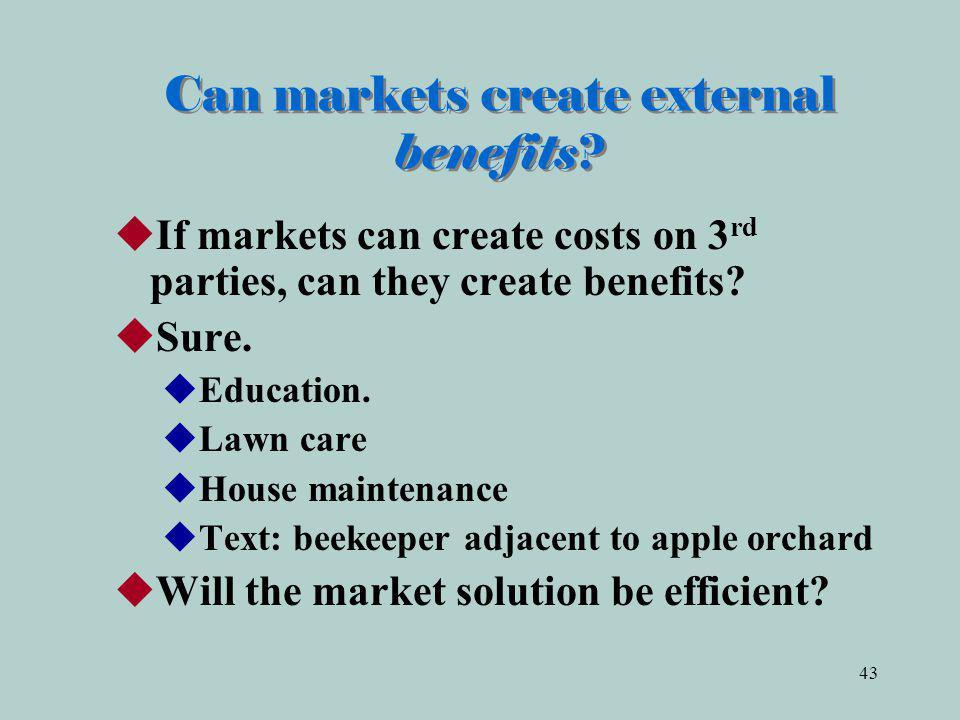 43 Can markets create external benefits.