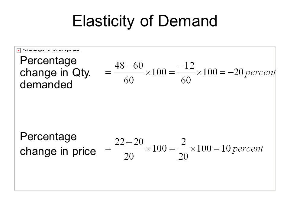 Percentage change in price Percentage change in Qty. demanded Elasticity of Demand