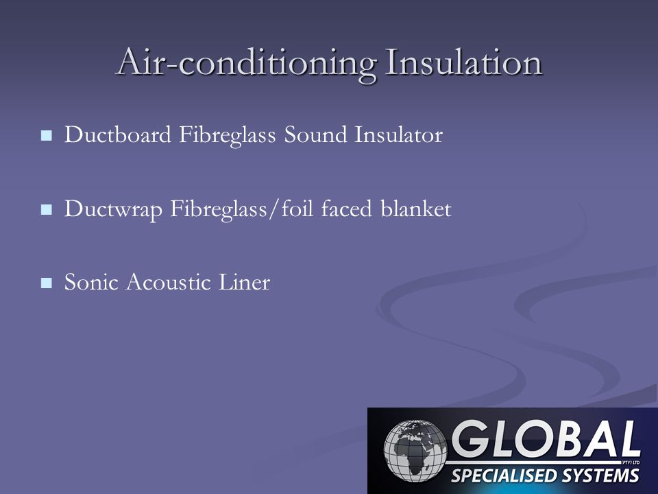 Air-conditioning Insulation Ductboard Fibreglass Sound Insulator Ductwrap Fibreglass/foil faced blanket Sonic Acoustic Liner