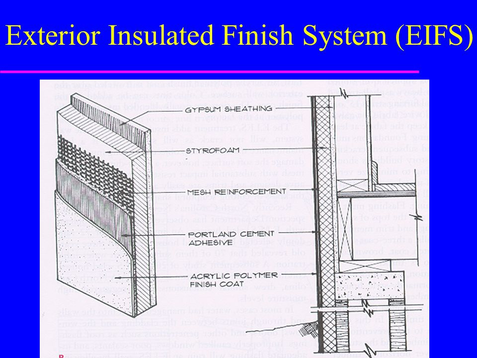 Exterior Insulated Finish System (EIFS)