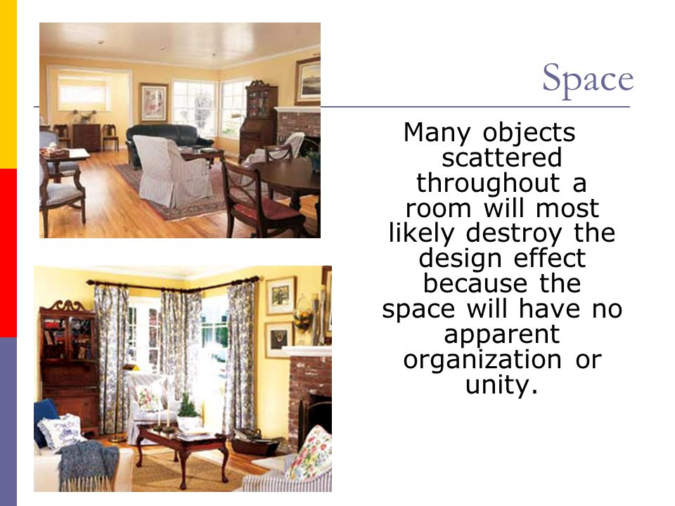 Space Objects grouped into large units will create a more ordered space.