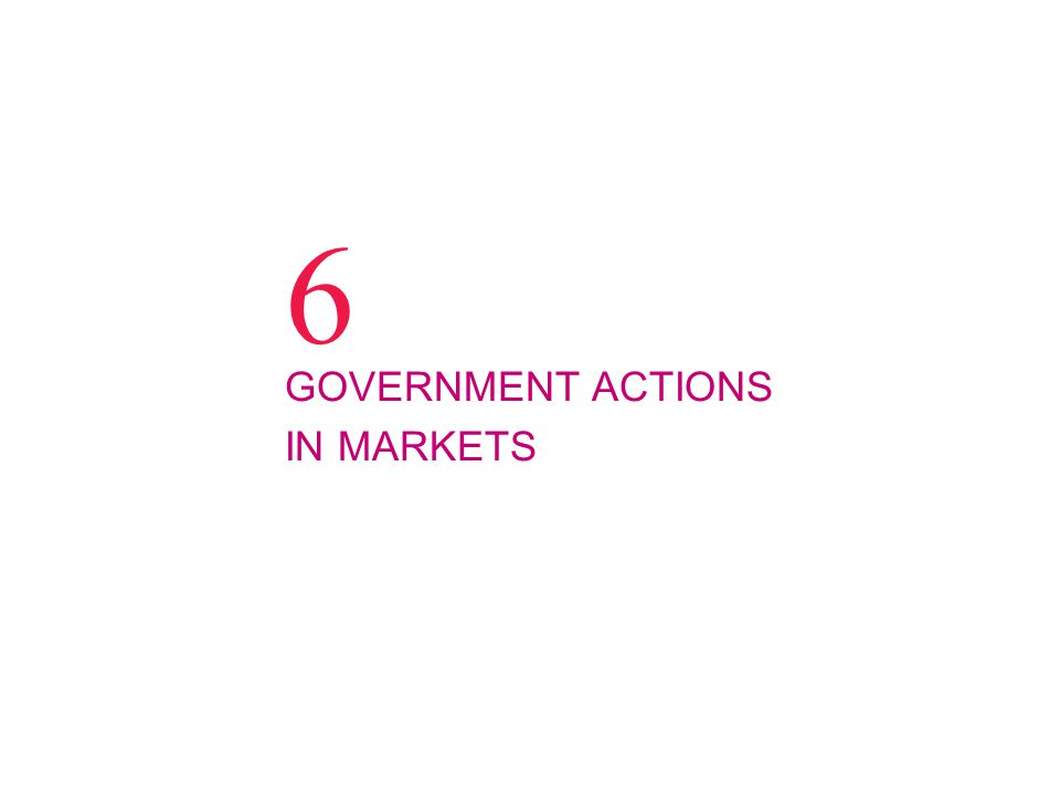 6 GOVERNMENT ACTIONS IN MARKETS