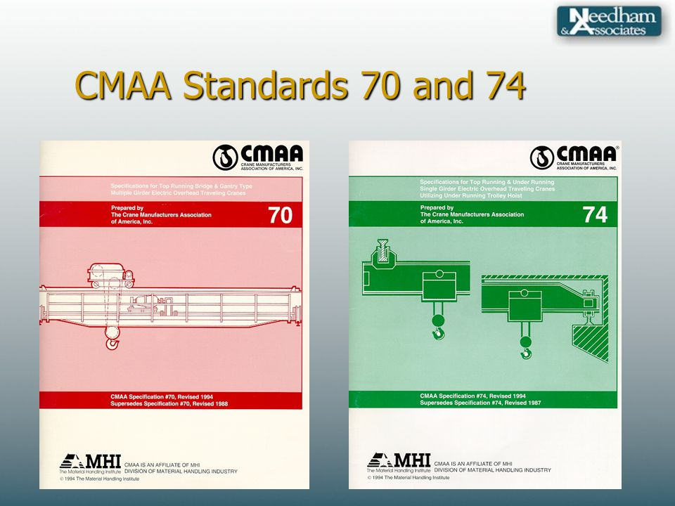CMAA Standards 70 and 74