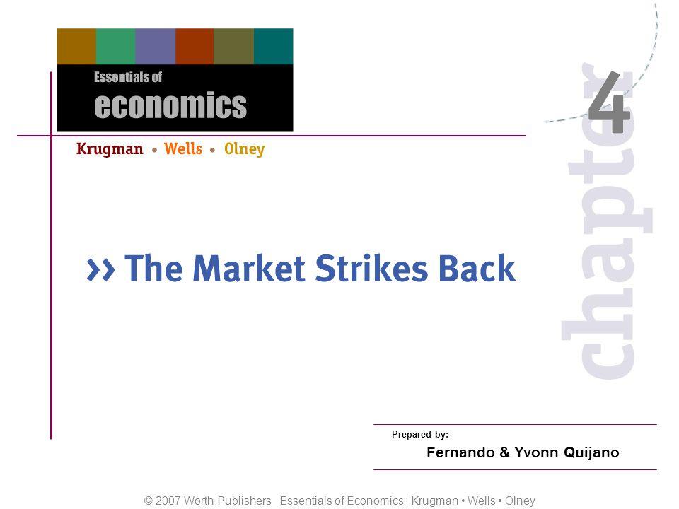 © 2007 Worth Publishers Essentials of Economics Krugman Wells Olney Prepared by: Fernando & Yvonn Quijano