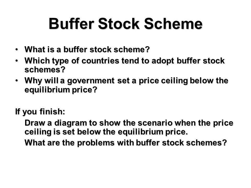 Buffer Stock Scheme What is a buffer stock scheme?What is a buffer stock scheme.