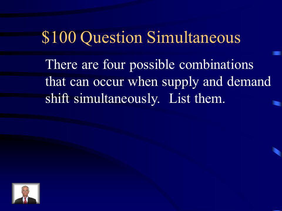 Jeopardy Simultaneous CeilingsFloorsElasticity Miscellaneous Q $100 Q $200 Q $300 Q $400 Q $500 Q $100 Q $200 Q $300 Q $400 Q $500 Final Jeopardy