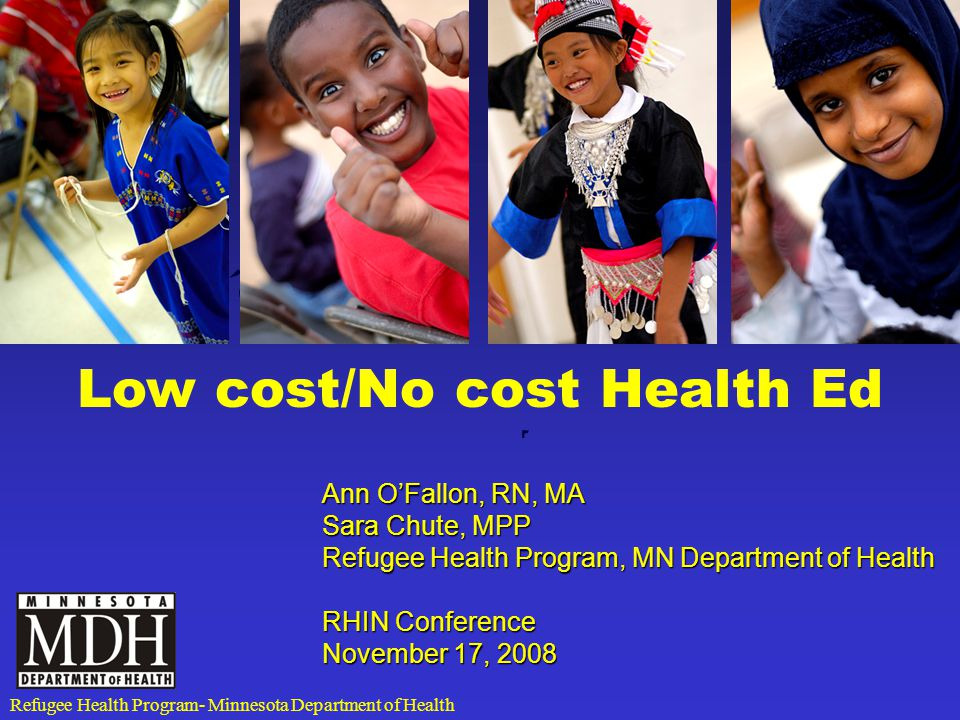 Metro Refugee Health Task Force CHWs Asylees Health materials Karen refugees Cultural Competence Refugee Health Screening African Born and HIV-AIDS And many more…