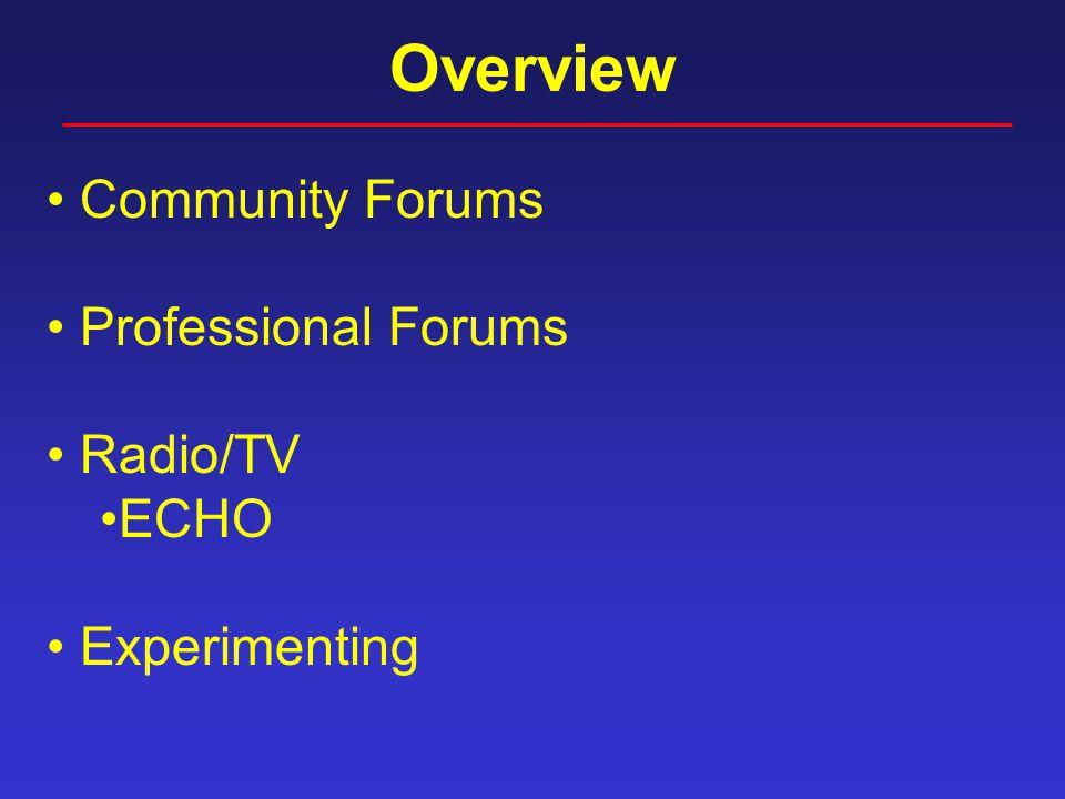 Global Brown Bag Forums