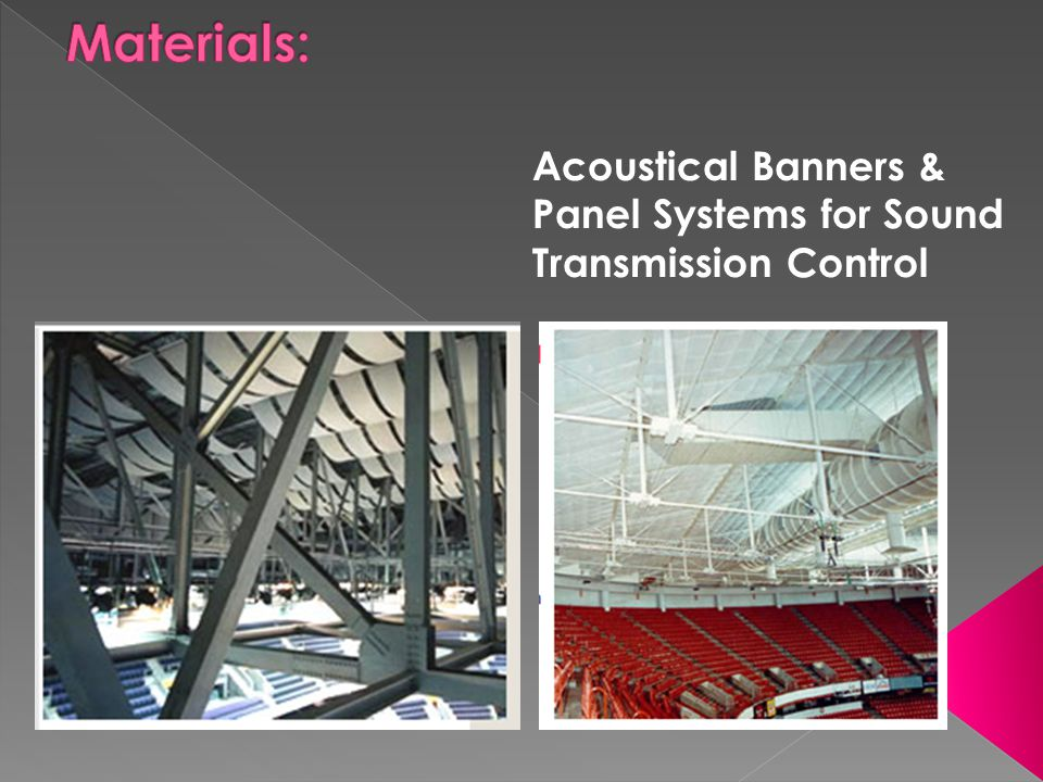 Acoustical Banners & Panel Systems for Sound Transmission Control
