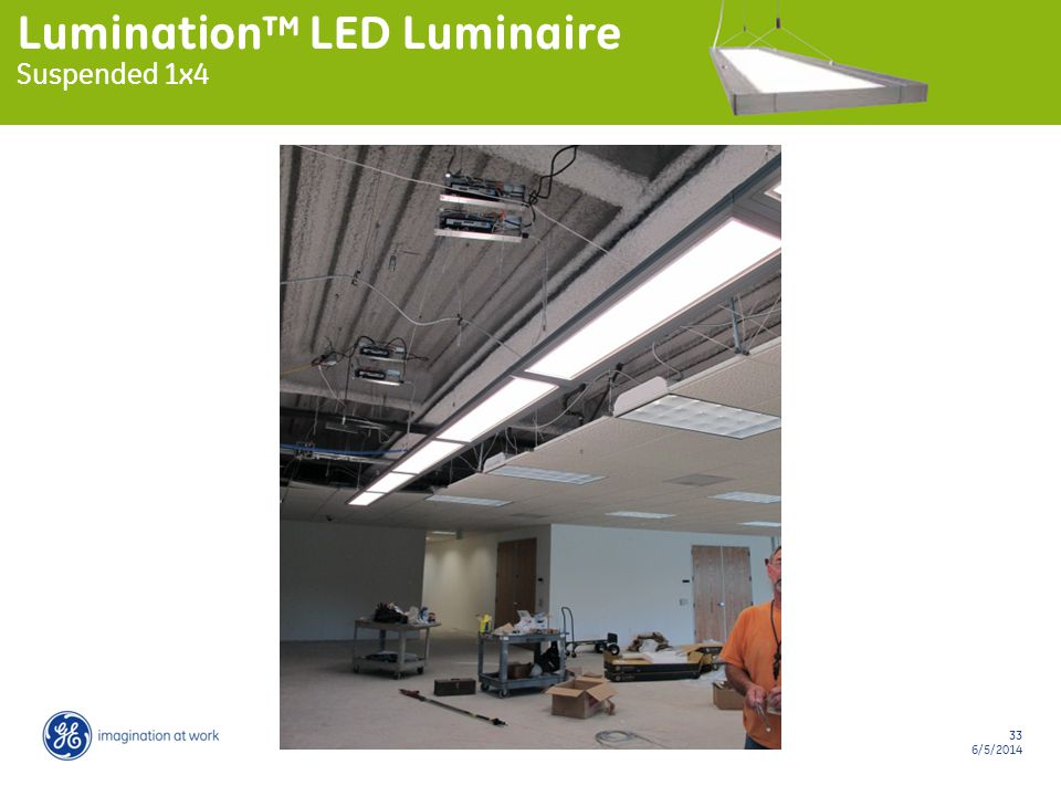 33 6/5/2014 Lumination LED Luminaire Suspended 1x4