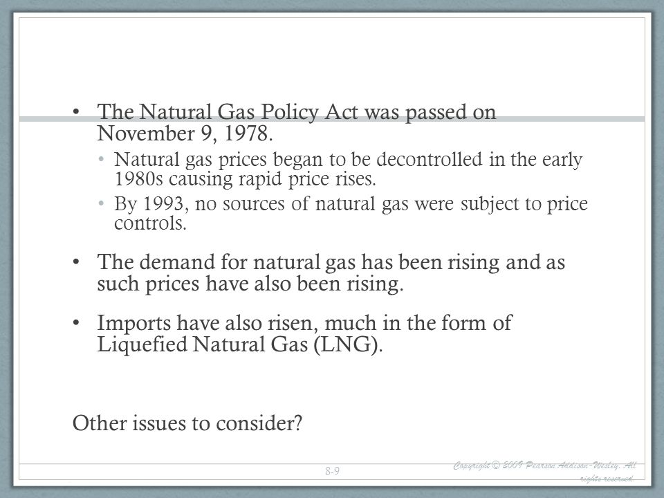 Oil: The Oil Cartel Definitions: Cartel: a group of producers having an agreement to collude on setting prices and output and sharing the market Monopoly: a market situation where we have: Many buyers Only one seller who can impose his own conditions Compared to perfection competition, monopoly = source of inefficiency because of higher prices and lower quantities imposed on consumers Oligopoly: a market situation where we have A small number of companies own or control the price of a particular good within the market Many buyers Regarding consumers well being, this situation is very similar to a monopoly Copyright © 2009 Pearson Addison-Wesley.