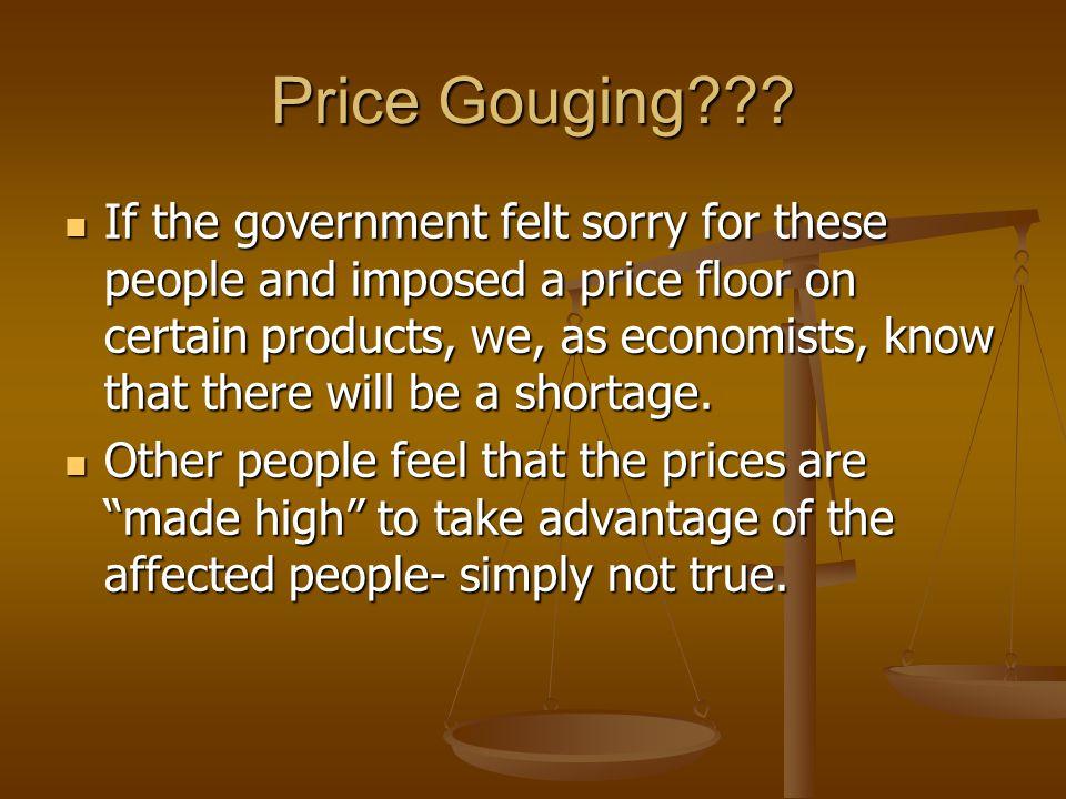 Price Gouging .