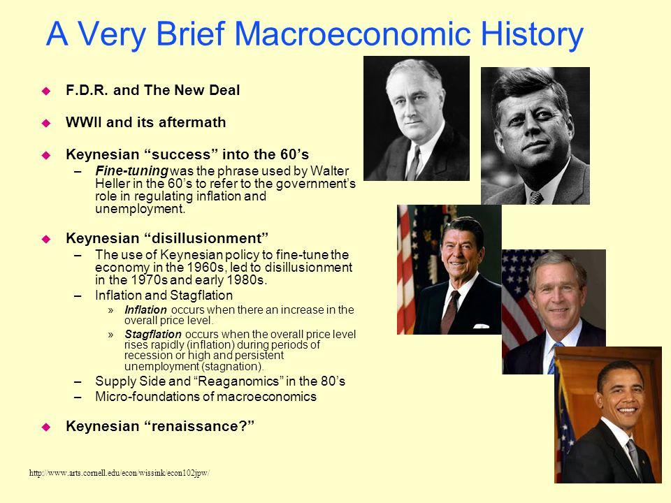 http://www.arts.cornell.edu/econ/wissink/econ102jpw/ The Roots of Macroeconomics u In 1936, John Maynard Keynes published The General Theory of Employ