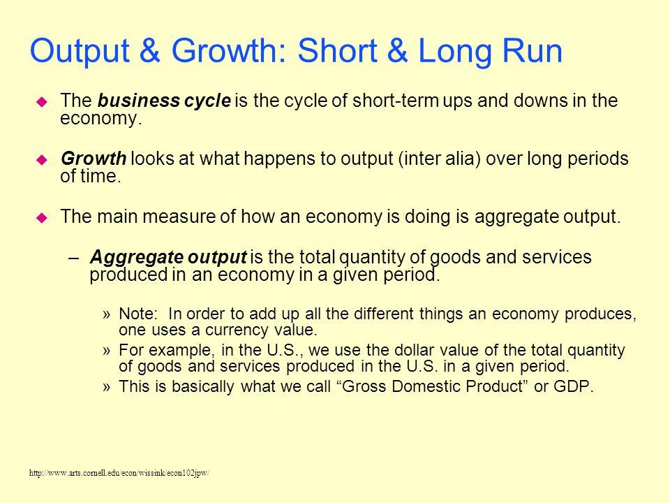 http://www.arts.cornell.edu/econ/wissink/econ102jpw/ Macroeconomic Concerns u Output/Production u Income/Employment u Price Levels/Interest Rates u Gl