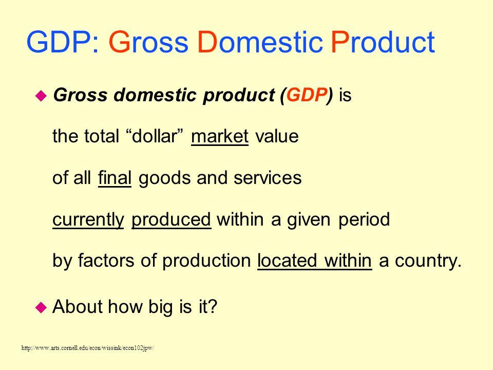 http://www.arts.cornell.edu/econ/wissink/econ102jpw/ National Income & Product Accounts u National income and product accounts are data collected and