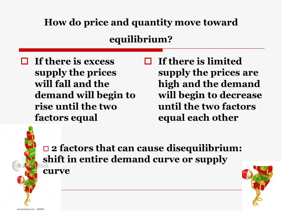 How do price and quantity move toward equilibrium.