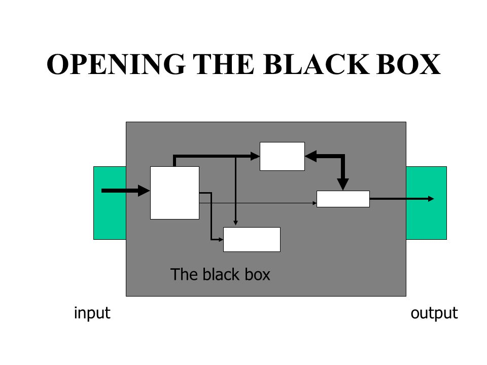 OPENING THE BLACK BOX The black box inputoutput