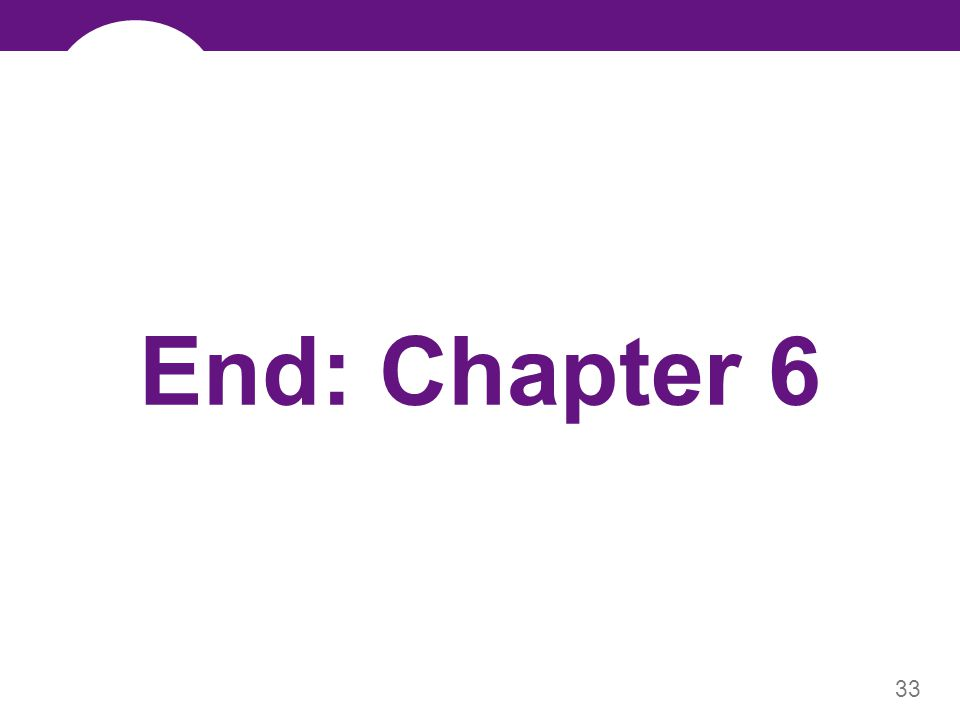 33 End: Chapter 6