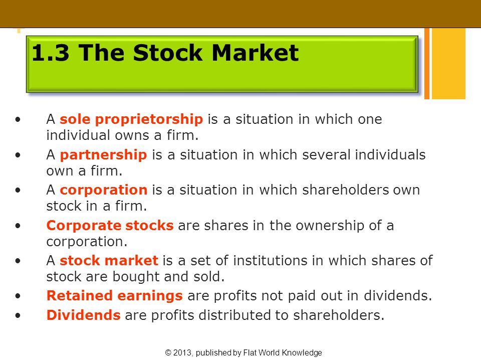 © 2013, published by Flat World Knowledge + Demand and Supply in the Stock Market