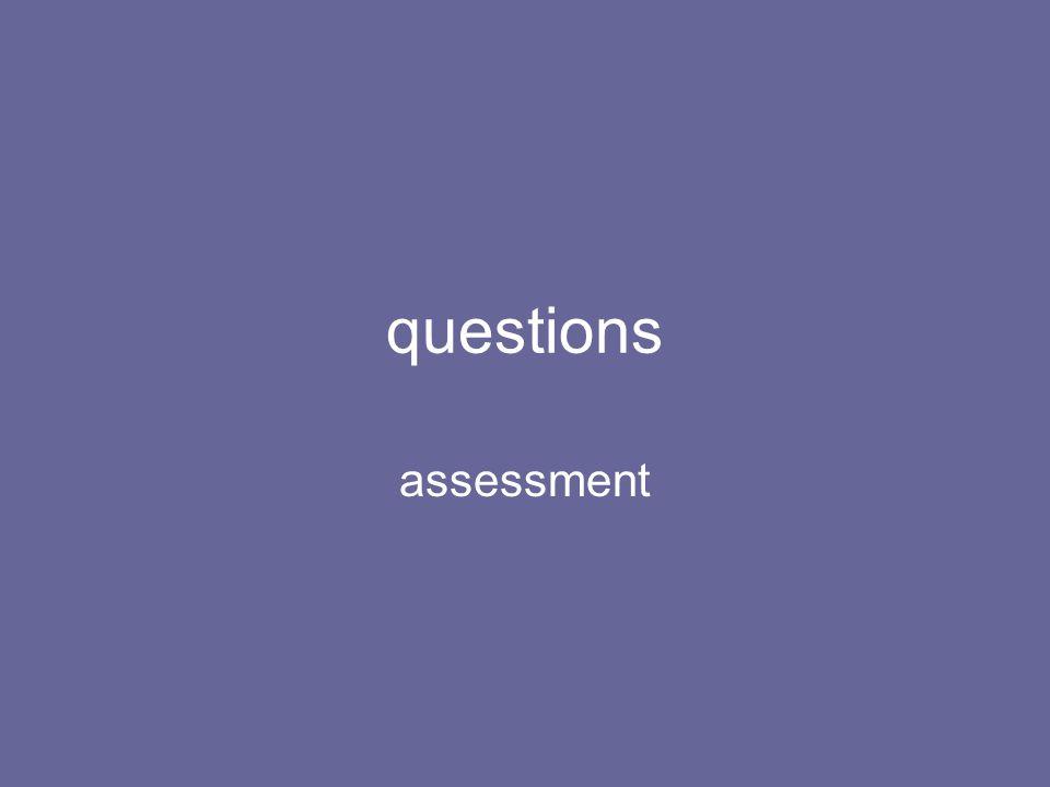 questions assessment