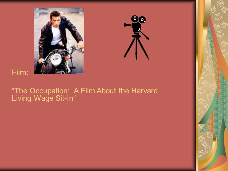 Film: The Occupation: A Film About the Harvard Living Wage Sit-In