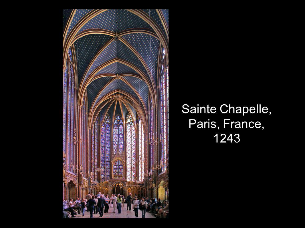 Sainte Chapelle, Paris, France, 1243