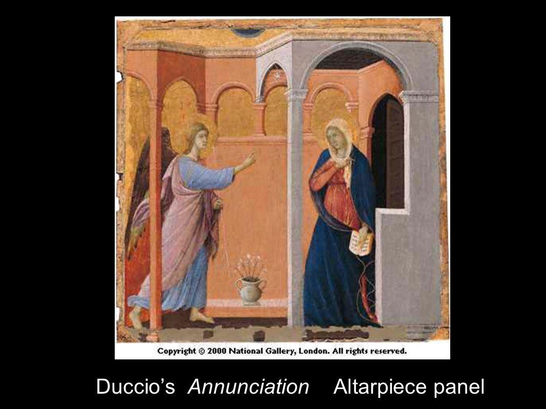 Duccios Annunciation Altarpiece panel