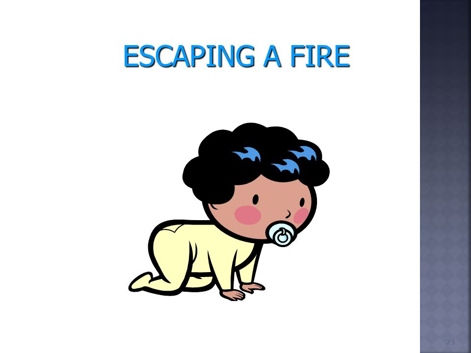 23 ESCAPING A FIRE
