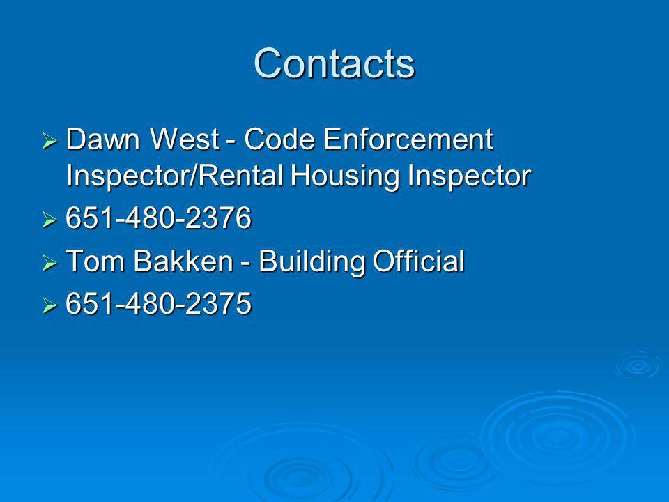 May 2007 Rental Housing Code