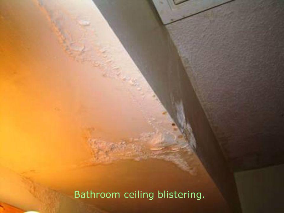 Bathroom floor rotting.