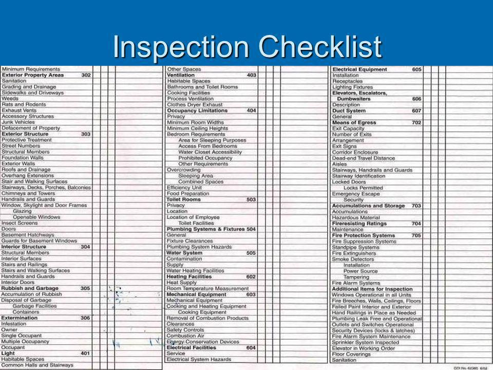 Inspection Process Initial Inspection- Listing Deficiencies and Compliance Timeframe. Initial Inspection- Listing Deficiencies and Compliance Timefram