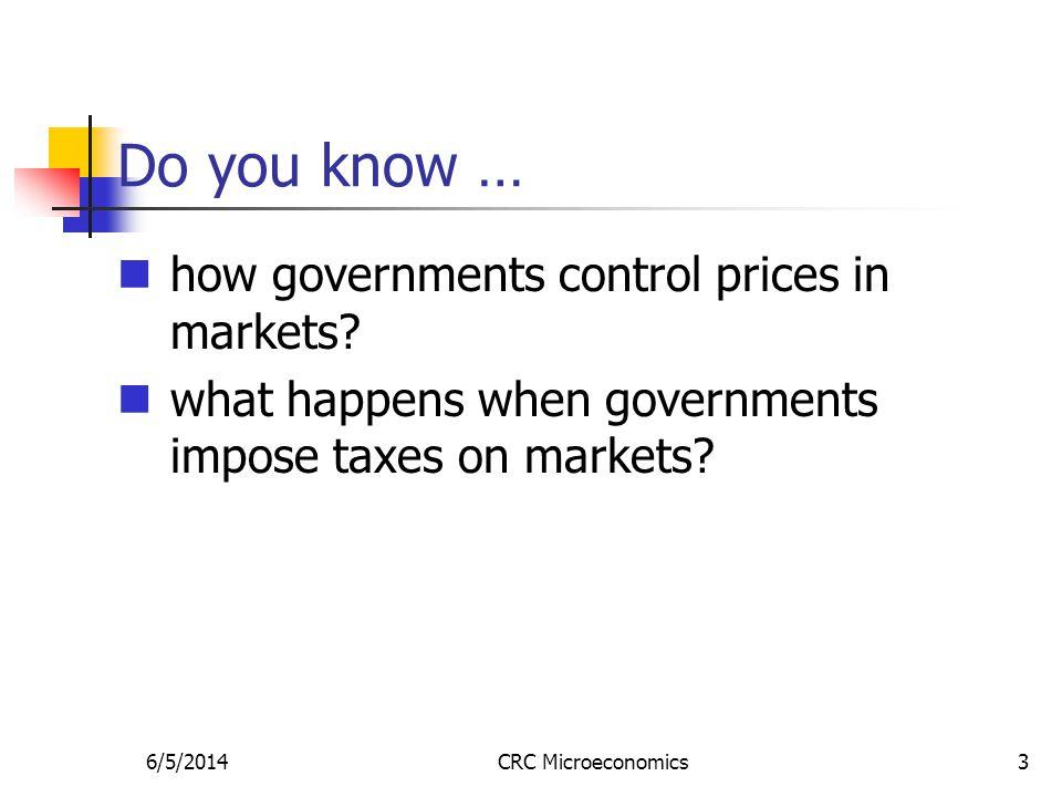 6/5/2014CRC Microeconomics34 3.Taxes on buyers vs.