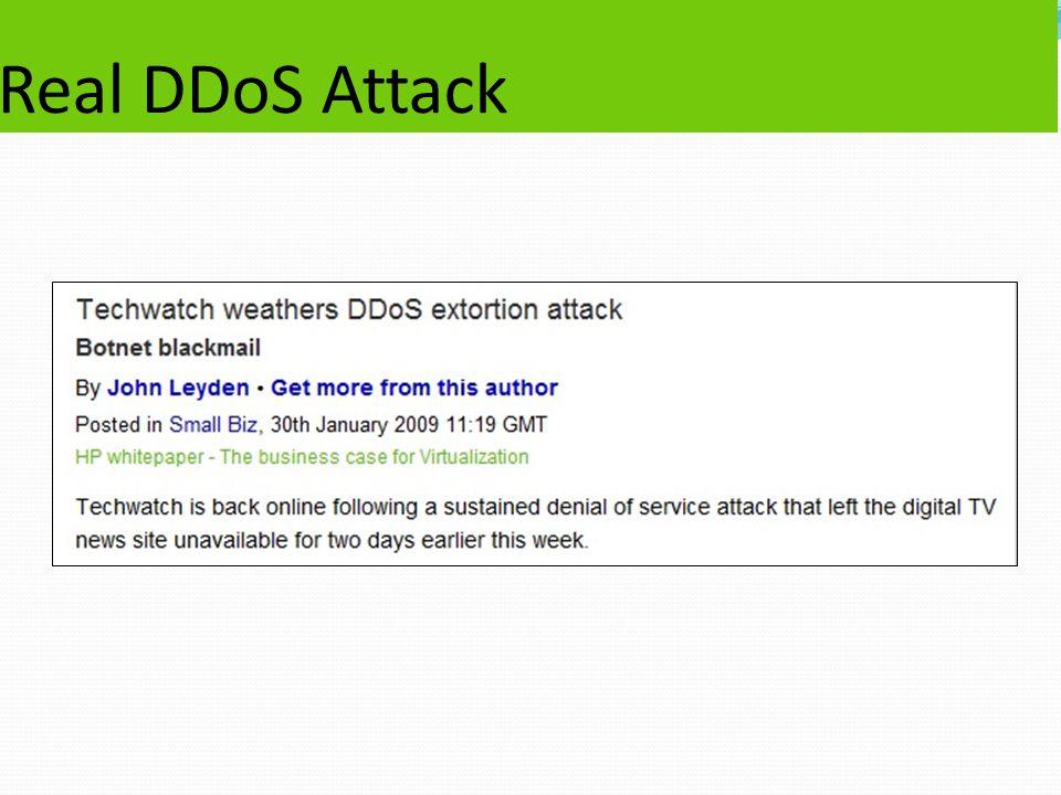Real DDoS Attack