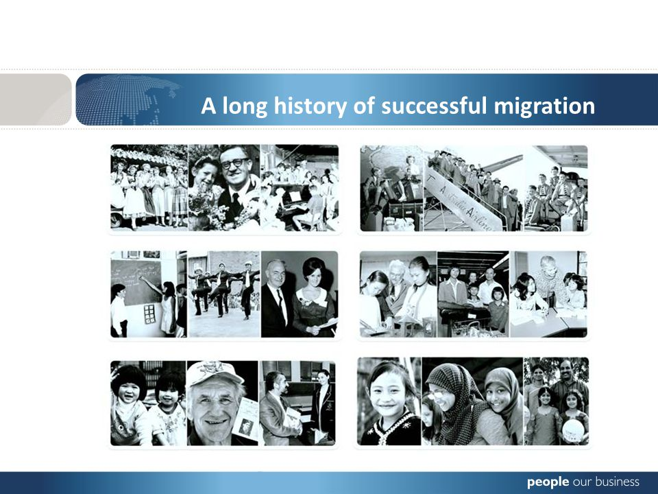 A long history of successful migration