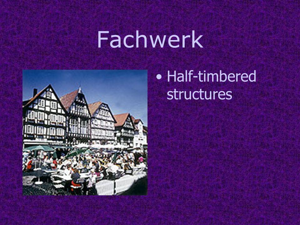 Fachwerk Half-timbered structures