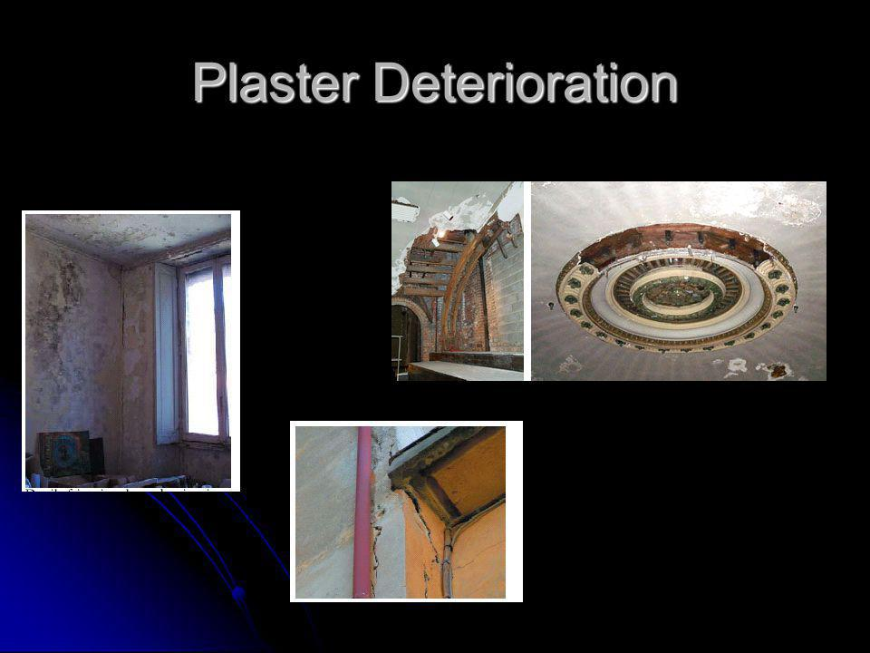 Wavy & Sagging Drywall Sidelight walls/ceilings looking for waving, bulging and sagging Sidelight walls/ceilings looking for waving, bulging and sagging May indicate: May indicate: Water damage Water damage Detachment Detachment Warping or twisting studs Warping or twisting studs