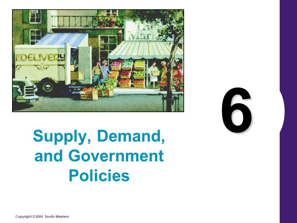 Copyright © 2004 South-Western 6 Supply, Demand, and Government Policies