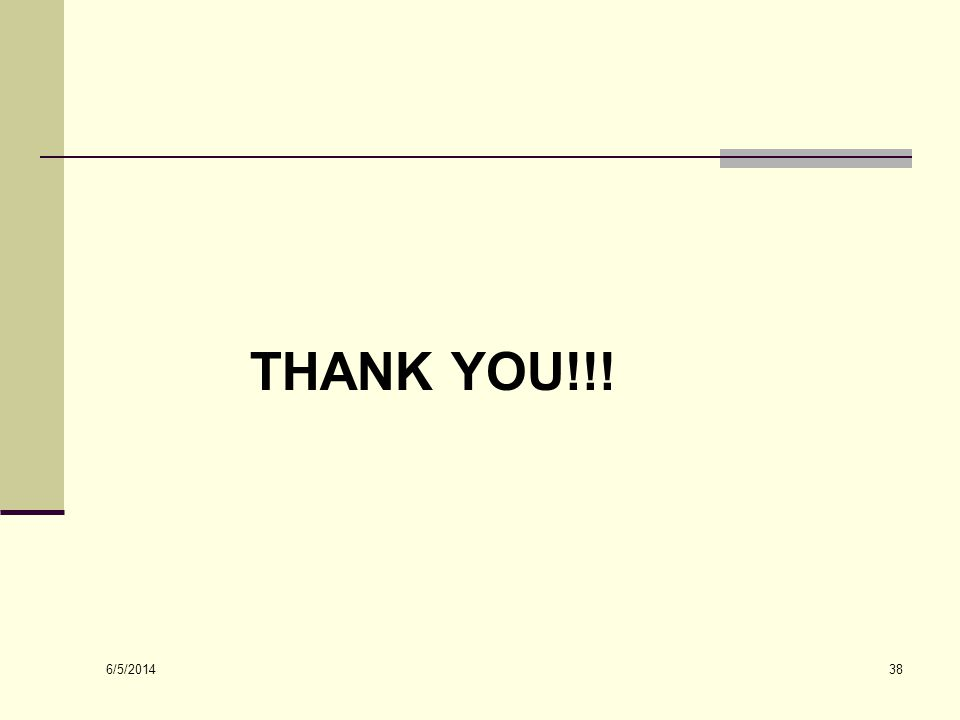 6/5/2014 38 THANK YOU!!!