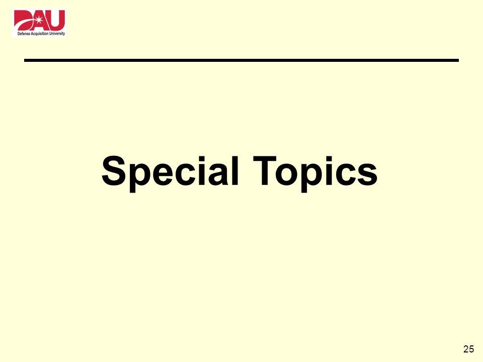 25 Special Topics