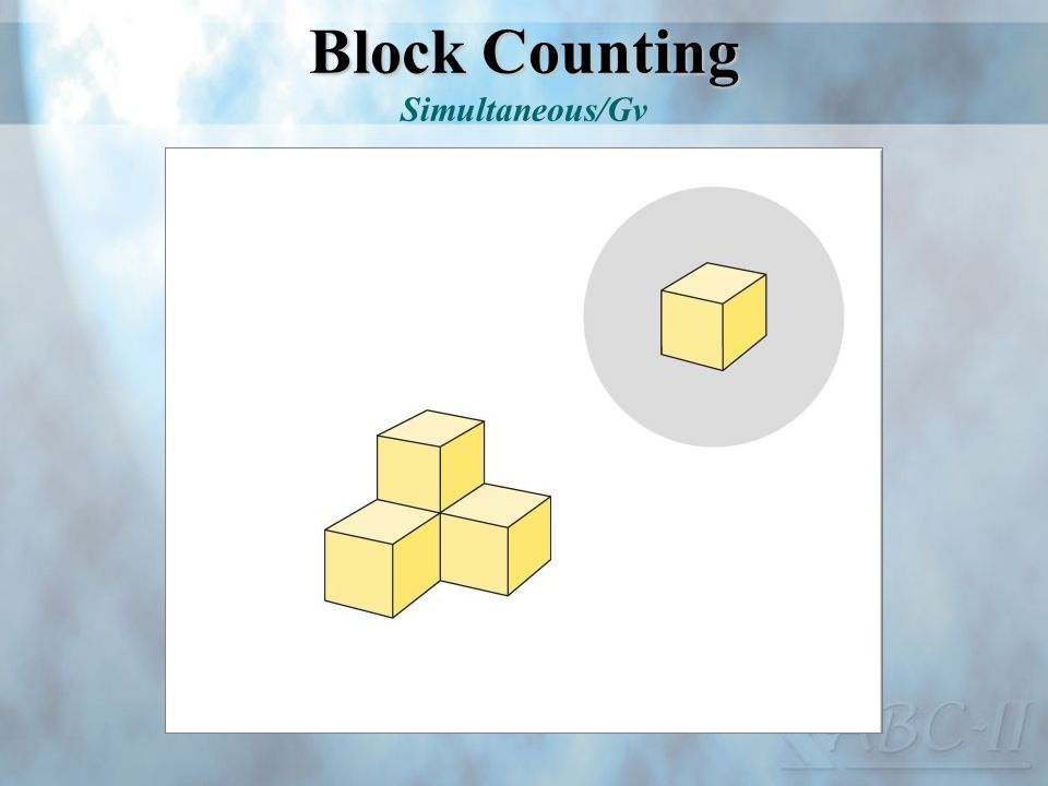 Block Counting Block Counting Simultaneous/Gv