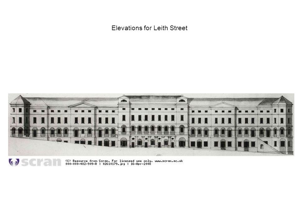 Elevations for Leith Street