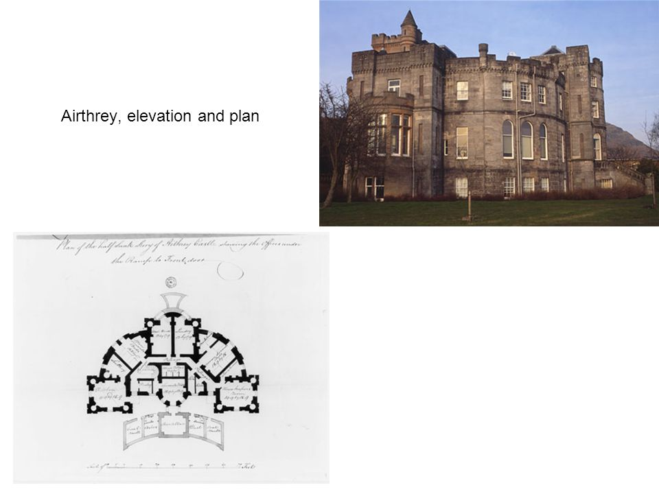 Airthrey, elevation and plan