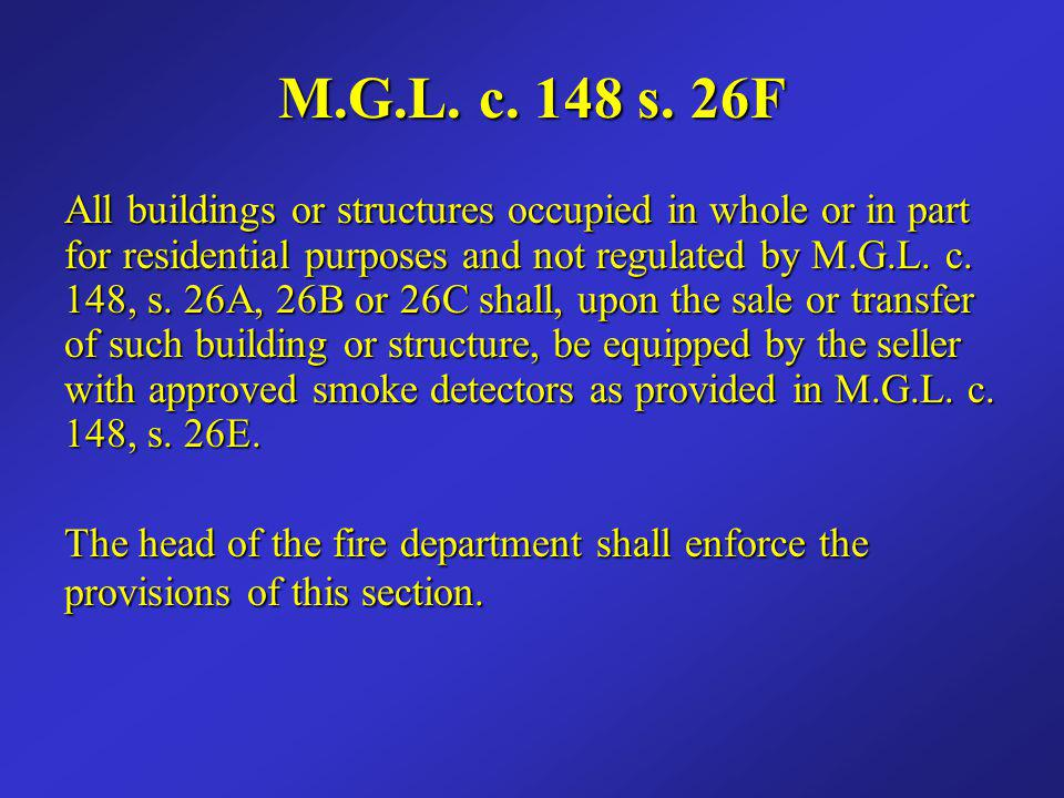 Smoke Detector Requirements Sixth Edition MSBC Sixth Edition MSBC Dwellings permitted from August 27 th, 1997 and prior to January 1 st, 2008.