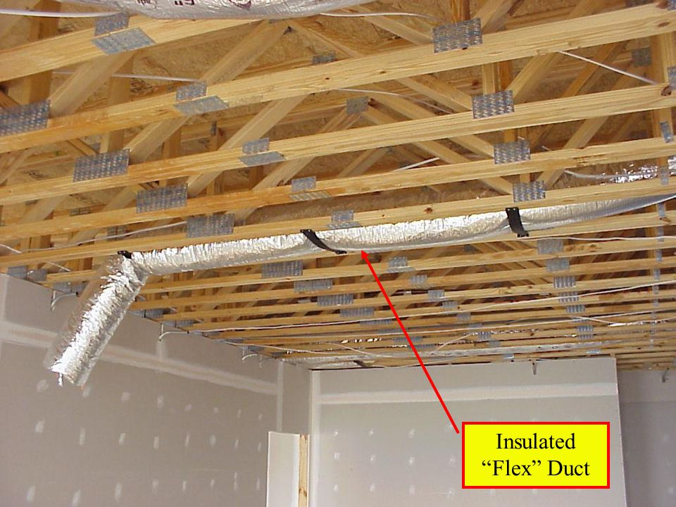 7 Insulation Sprinkler Pipe Rare in Residential Construction WHY? Flexible Duct Duct Anchorage