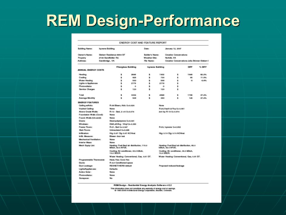 REM Design-Performance
