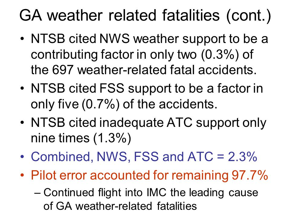 GA weather-related fatalities – a study by D.C. Pearson (NWS) http://www.srh.noaa.gov/topics/attach/html/ ssd02-18.htmhttp://www.srh.noaa.gov/topics/a