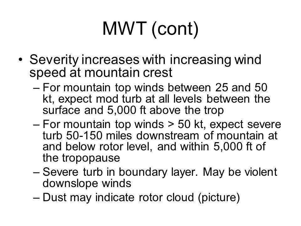 Turbulent Layer 1 - SFC-~7kft above peaks Turbulent Layer 2 2kft above to 6kft below trop Turbulent Layer 2 2kft above to 6kft below trop Tropopause R