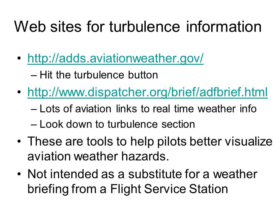 Turbulence PIREPs